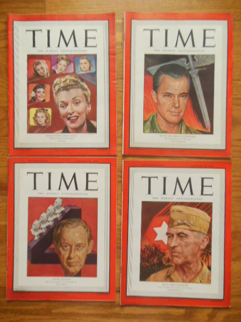 Image for Time Magazine January 15, 22, 29, 1945 (Three Consecutive Issues)