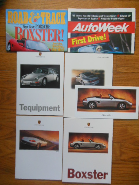 Image for Porsche Boxster 1997 4 Booklets, 1 Card and 3 Auto Magazine Test Drives