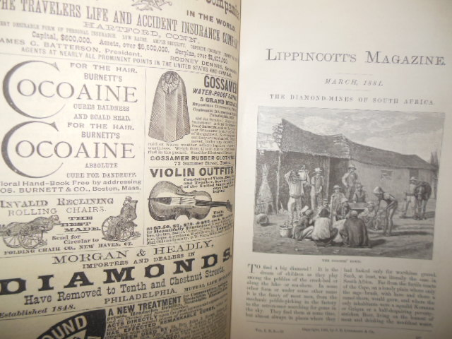 Image for Lippincott's Magazine March 1881 (The Diamond Mines of South Africa & Fanny Stevenson)