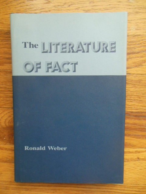 Image for The Literature of Fact: Literary Non-Fiction in American Writing