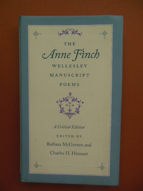 Image for The Anne Finch Wellesley Manuscript Poems; A Critical Edition