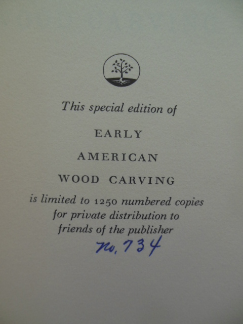Image for Early American Wood Carving (Numbered Limited Edition)
