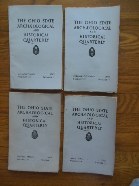 Image for The Ohio State Archaeological and Historical Quarterly 1945 (Full Run, 4 Issues)