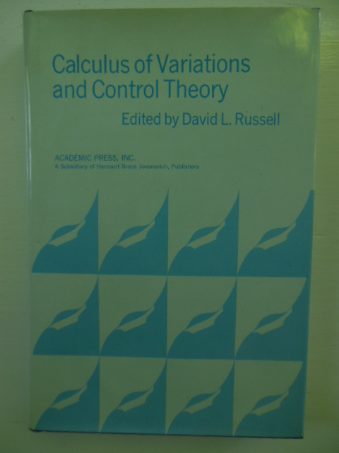 Image for Calculus of Variations and Control Theory: Proceedings of a Symposium Conducted by the Mathematics Research Center, University of Wisconsin-Madison, September 22-24, 1975