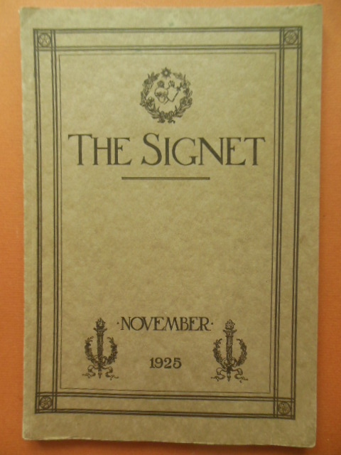 Image for The Signet Magazine of the Federated Alumnae of the Sacred Heart in the United States and Canada 1925 (Saint Magdalena Sophia)