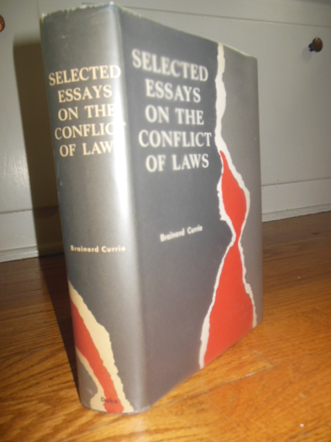 Image for Selected Essays on  the Conflict of Laws