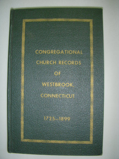 Image for Congregational Church Records of Westbrook, Connecticut