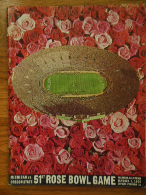 Image for 51st Rose Bowl Game, Official Program, Michigan Vs. Oregon State (1965)