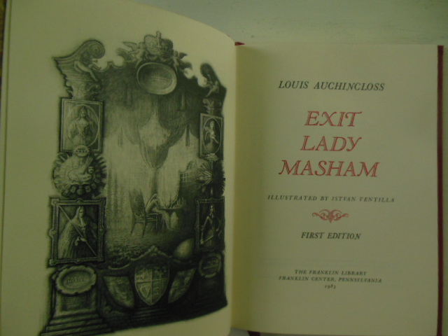 Image for Exit Lady Masham (SIGNED first Edition)