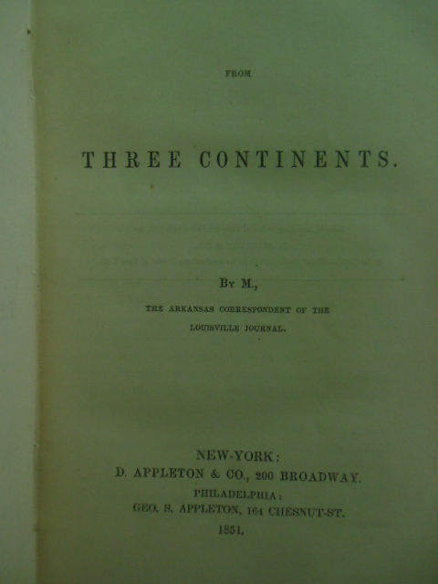 Image for Letters From Three Continents