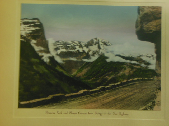 Image for Scenes In Glacier National Park Montana; Hand Colored Pictures