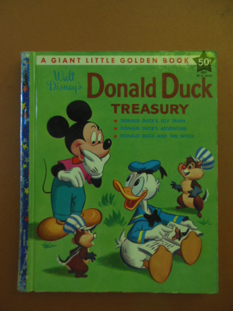 Image for Donald Duck Treasury; Donald Duck's Toy Train. Donald Duck's Adventure; Donald Duck and the Witch  (A Giant Little Golden Book 1st edition)