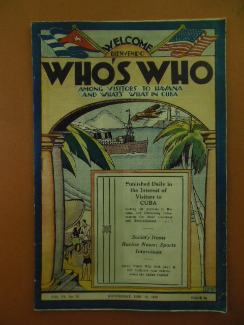 Image for Who's Who Among Visitors And What's What In Cuba (Feb. 12, 1936)