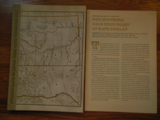 Image for The Montana Gold Rush Diary of Kate Dunlap  (Publisher's Insert Laid-in_