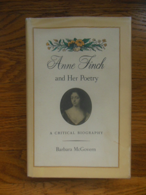 Image for Anne Finch and Her Poetry; A Critical Biography