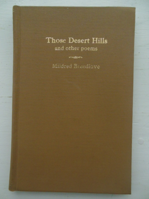 Image for Those Desert Hills and Other Poems (SIGNED 1st Ed.)