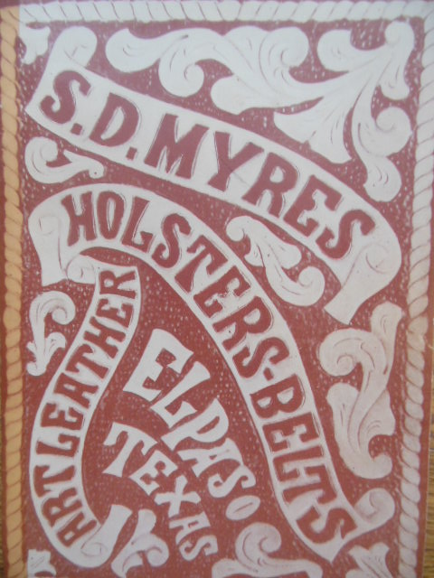 Image for S.D. Myres Holsters Belts Art Leather (Trade Catalog)