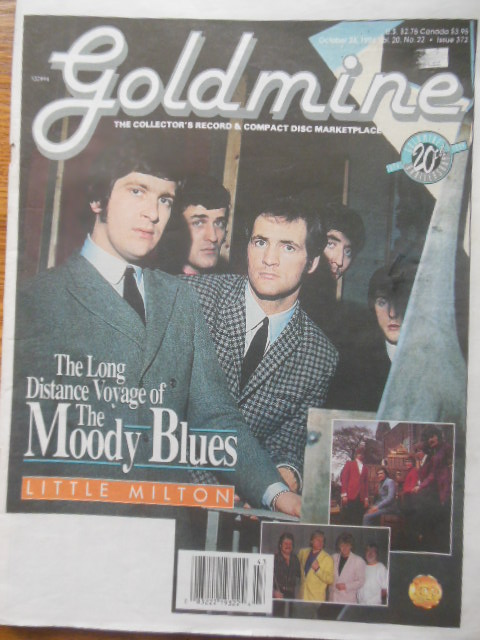 Image for The Goldmine Magazine October 28, 1994  20th Anniversary Issue (The Moody Blues)