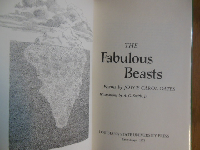 Image for The Fabulous Beasts: Poems (Joyce Carol Oates 1st Edition)