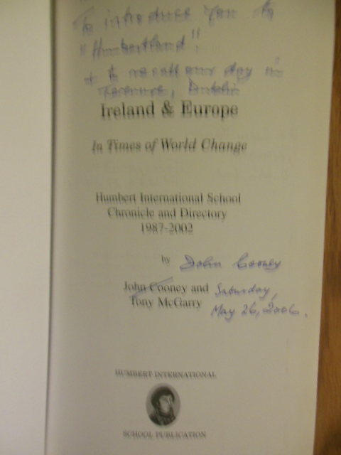 Image for Ireland & Europe: In Times of World Change : Humbert International School Chronicle and Drectory 1987-2002
