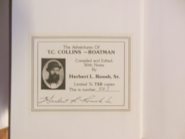 Image for The Aventures of T.C. Collins -- Boatman; Twenty-four Years on the  Reserve Waters 1849-1873  (SIGNED Limited Edition)