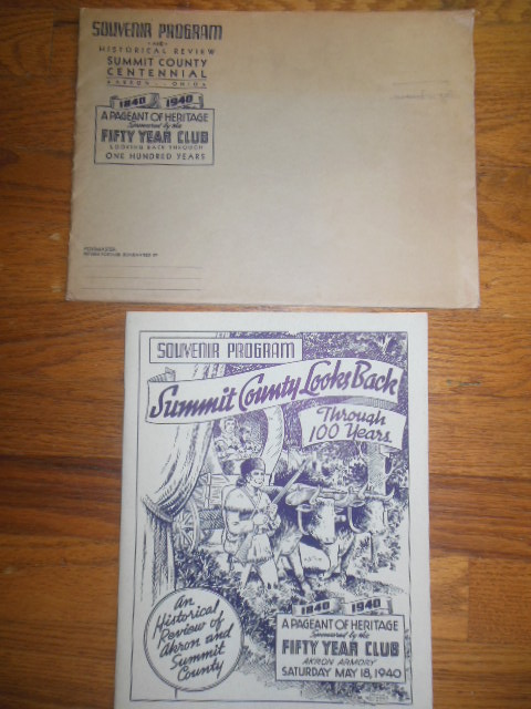 Image for Souvenir Program Summit County Looks Back Through 100 Years (Ohio, 1940 With original envelope)
