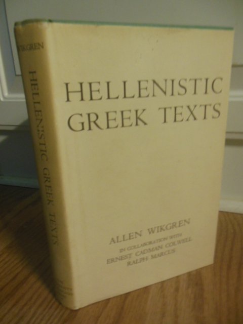 Image for Hellenistic Greek Texts