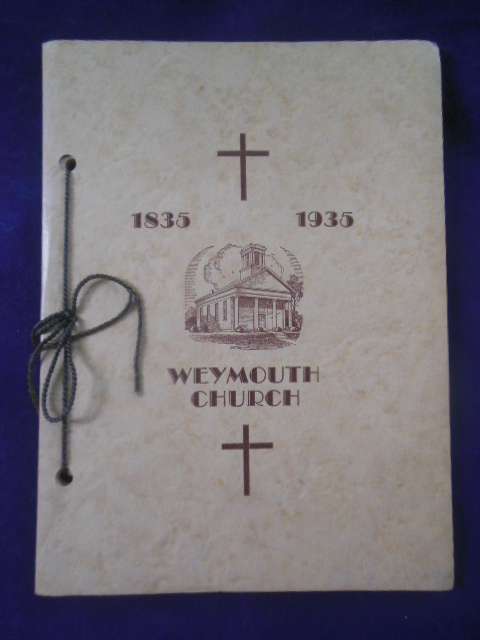 Image for One Hundred Years of the First Congregational Church of Weymouth, Ohio 1835-1935 -