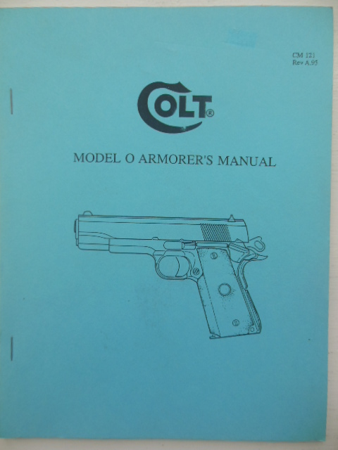 Image for Model O Armorer's Manual