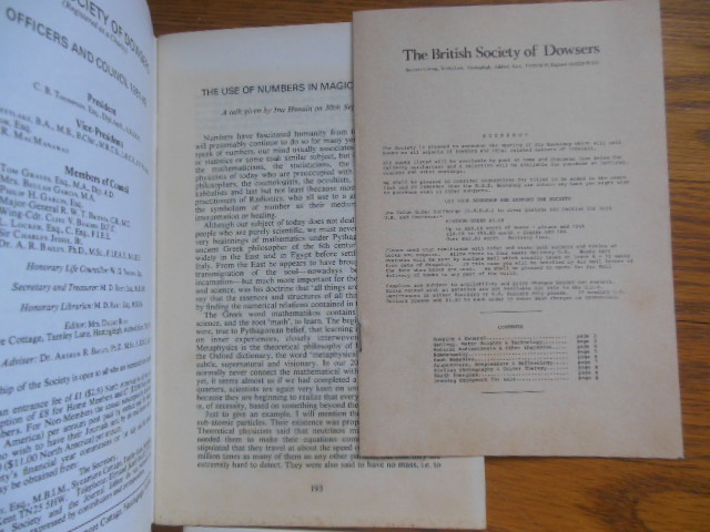 Image for Journal of the British Society of Dowsers (6 issues 1979-1883)