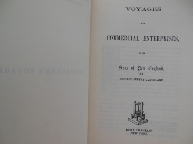 Image for Voyages and Commercial Enterprises of the Sons of New England