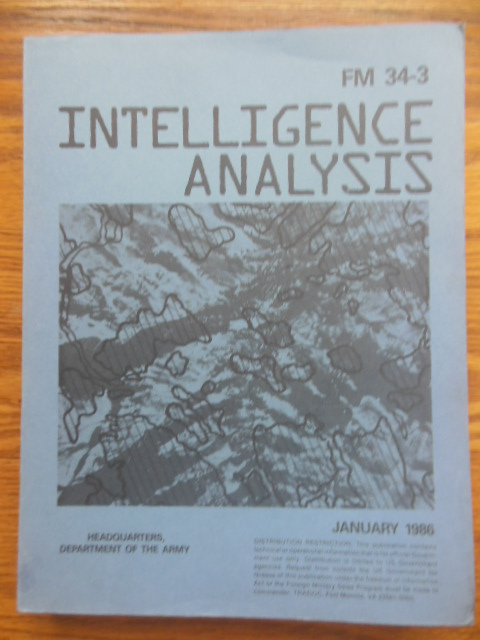 Image for FM 34-3 Intelligence Analysis (January 1986)