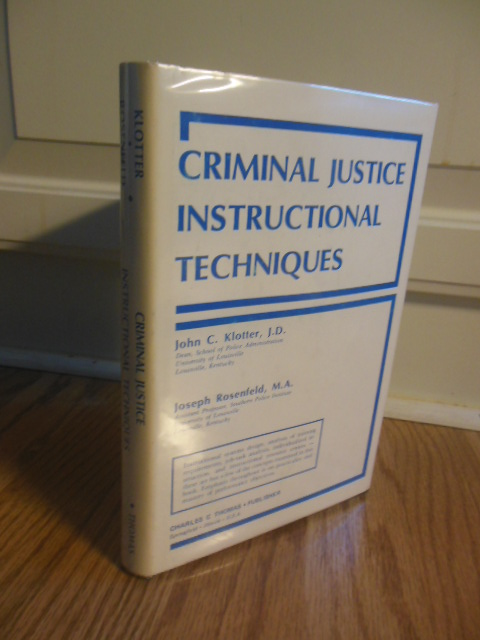 Image for Criminal Justice Instructional Techniques