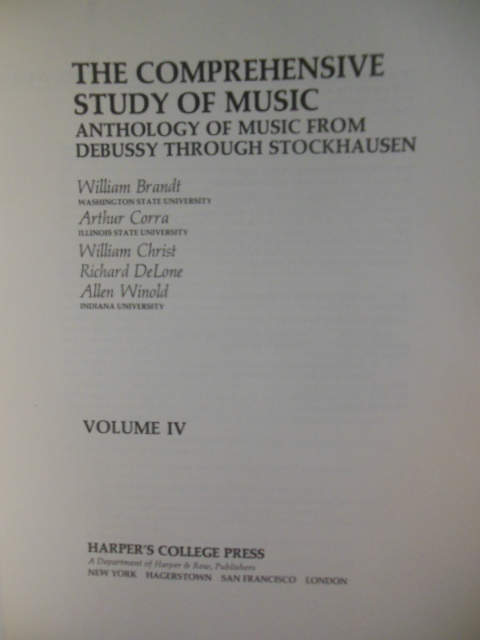 Image for The Comprehensive Study of Music: (Volumes I, II, III, IV, V)