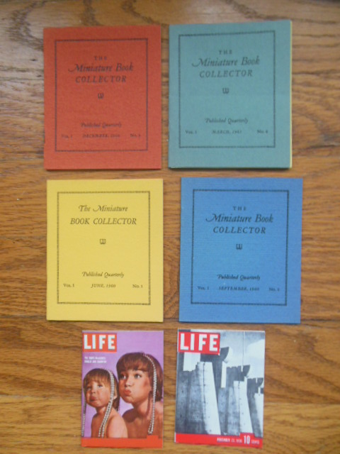 Image for The Miniature Book Collector Volume I Nos. 1-2-3-4 Plus Two Miniature Life Magazines
