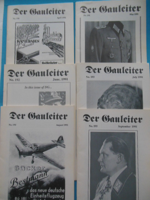 Image for Der Gauleiter The Journal for the Militaria Collector (6 consecutive issues, 1991)