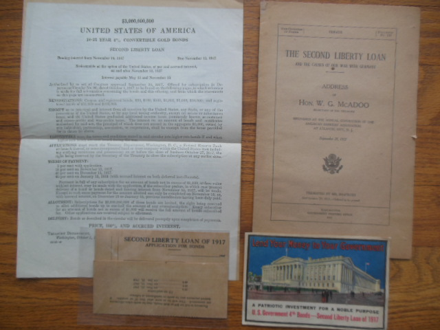 Image for The Second Liberty Loan WWI   1917 (McAdoo speech, explanation, and application)