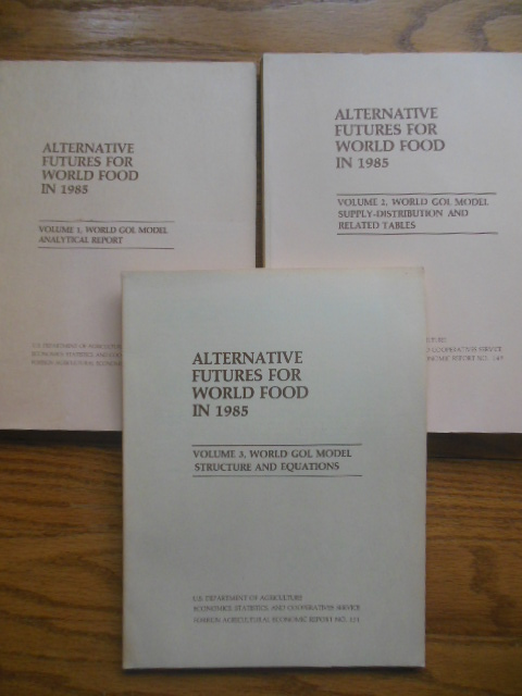 Image for Alternative Futures for World Food 1985 (three volume set(