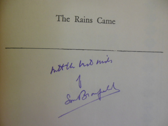 Image for The Rains Came: A Novel of Modern India (SIGNED)