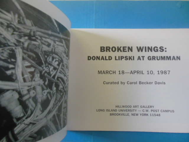 Image for Broken Wings: Donald Lipski At Grumann March 18 -- April 10, 1987