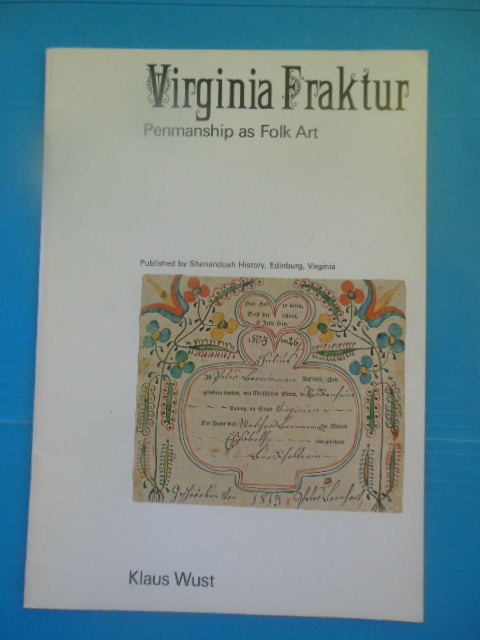 Image for Virginia Fraktur: Penmanship As Folk Art
