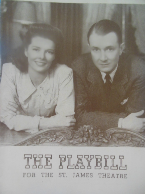 Image for The Playbill for the St. James Theatre Without Love, 1942 Katharine Hepburn)