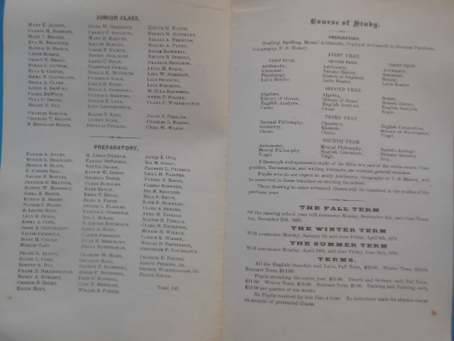 Image for Annual Circular for the Eighth Year of the Cleveland Academy 1869-70