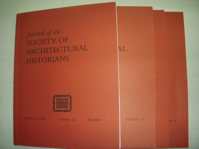 Image for Journal of the Society of Architectural Historians  1992 (Four Issues, Full Run)