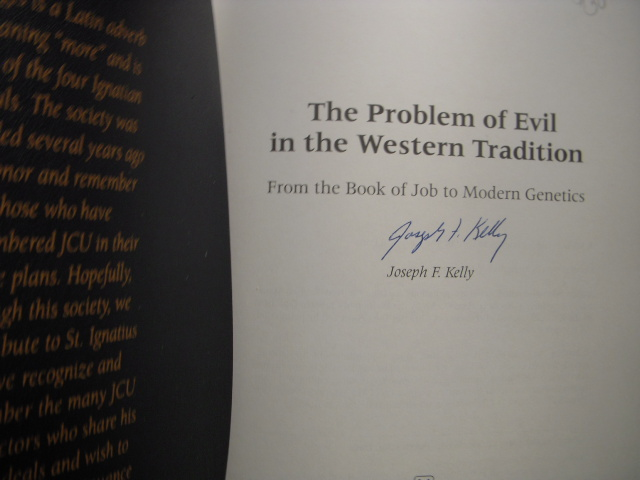 Image for The Problem of Evil in the Western Tradition  (SIGNED & in Printed Leatherette Cover)