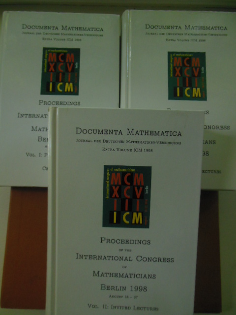 Image for Documenta Mathematica; Proceedings of the International Congress of Mathematicians  Berlin 1998 (Volume I, Plenary Lectures; Volume  II, Invited Lectures,  Volume III  Invited Lectures)