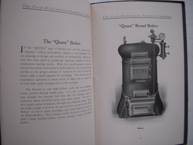 Image for Boilers for Steam Heating Underfeed and Topfeed  Manufactured By the  Peck-Williams Foundry Company