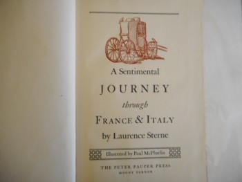 Image for A SENTIMENTAL JOURNEY THROUGH FRANCE & ITALY