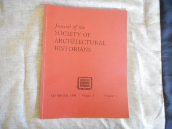 Image for JOURNAL OF THE SOCIETY OF ARCHITECTURAL HISTORIANS