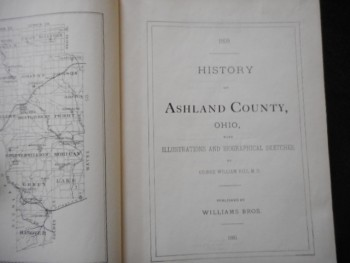 Image for HISTORY OF ASHLAND COUNTY OHIO